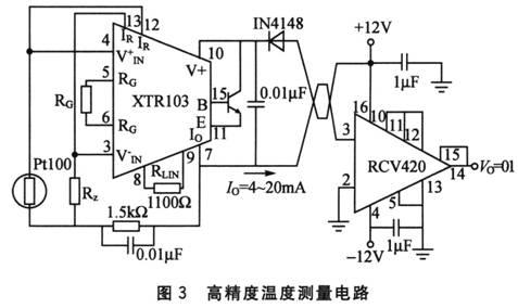 高精度温度测量电路